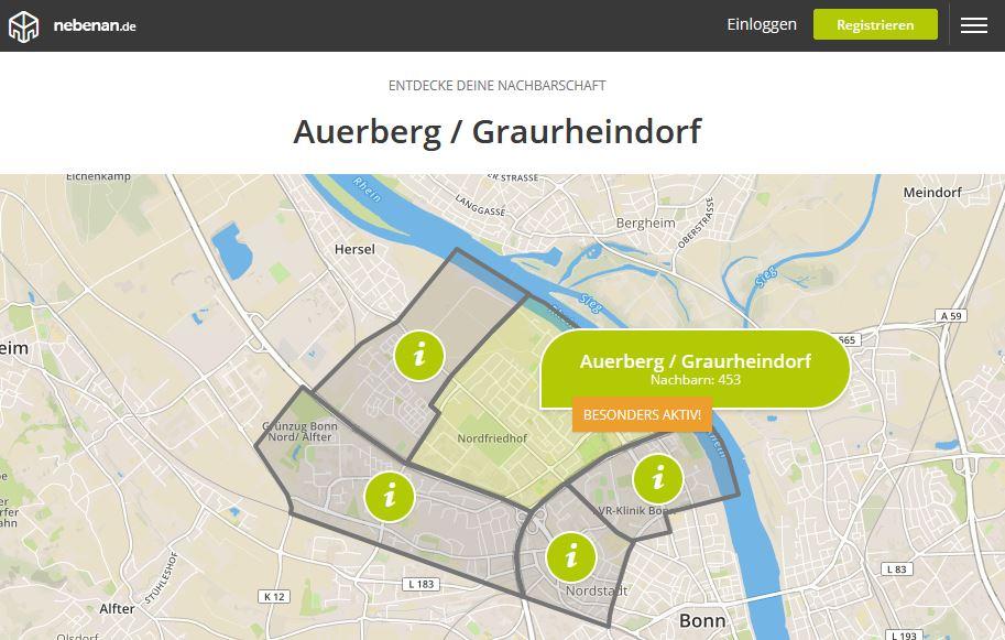 Quartiersmanagement nutzt für die Stadt Bonn die Nachbarschaftsplattform nebenan.de