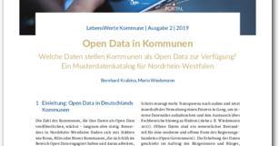 Open Data Musterdatenkatalog für Kommunen veröffentlicht