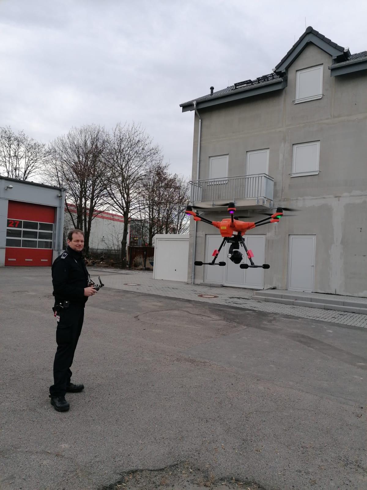 Feuerwehr Bonn setzt zukünftig auf die Unterstützung aus der Luft