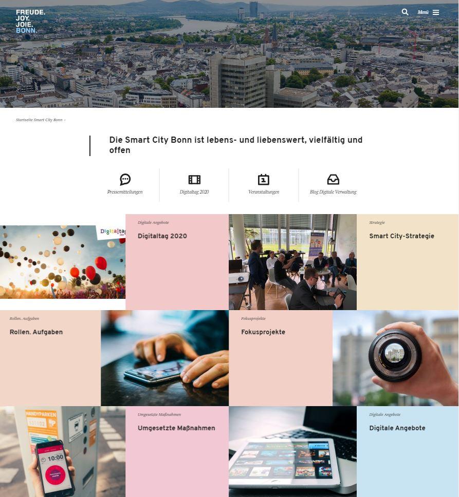 Neues Internetangebot smartcity.bonn.de ist online