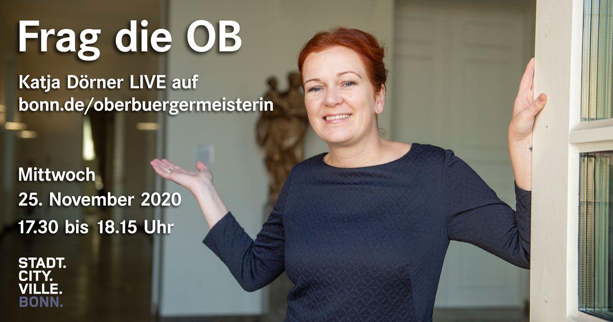 """""""Frag die OB"""" – Offene digitale Sprechstunde von Katja Dörner"""