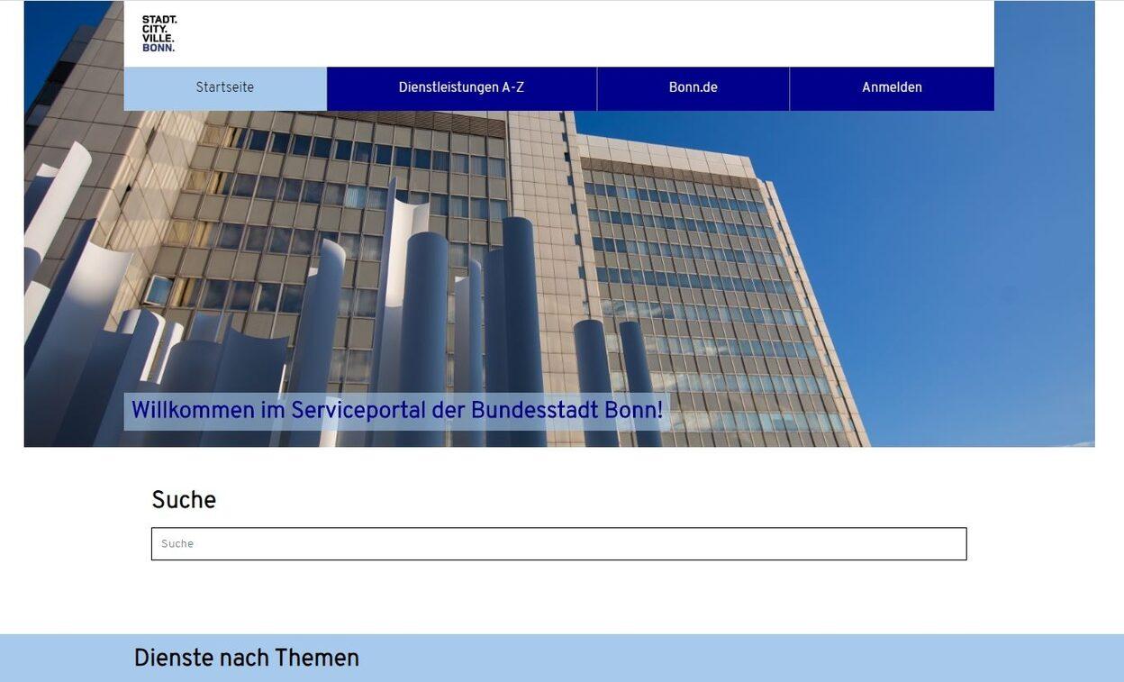 Serviceportal für Onlinedienstleistungen