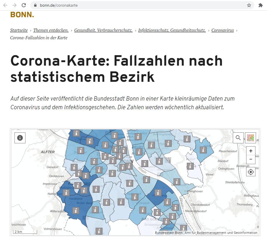 Kleinräumige Daten zum Coronavirus veröffentlicht