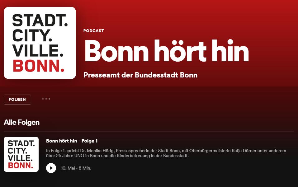 """""""Bonn hört hin!"""" Der neue Podcast der Stadtverwaltung"""