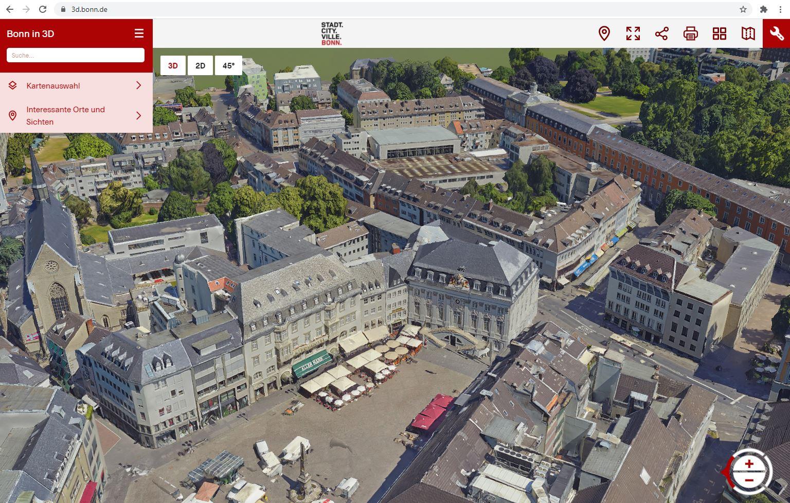 """""""Bonn in 3D"""": Digitales Stadtmodell ist realisiert"""